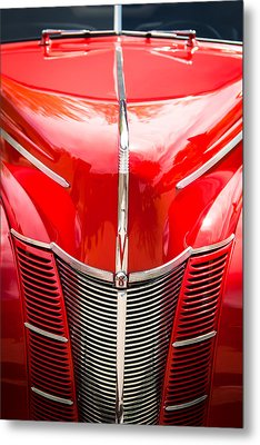 1940 Ford Deluxe Coupe Grille Metal Print by Jill Reger