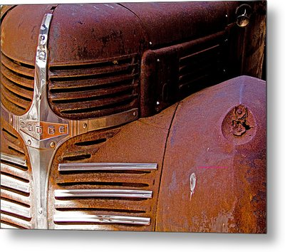 1940 Rusted Dodge Truck Metal Print by Marvin Blaine