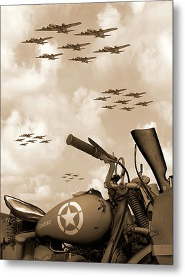 1942 Indian 841 - B-17 Flying Fortress' Metal Print by Mike McGlothlen