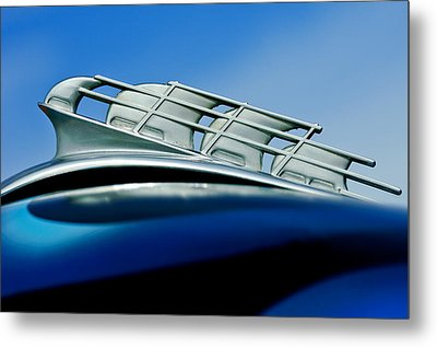1946 Plymouth Hood Ornament Metal Print by Jill Reger