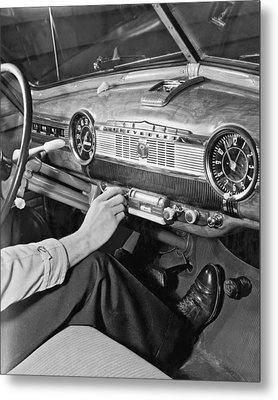 1947 Chevrolet Dashboard Metal Print by E. Earl Curtis