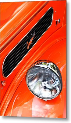 1948 Anglia 2-door Sedan Grille Emblem Metal Print by Jill Reger