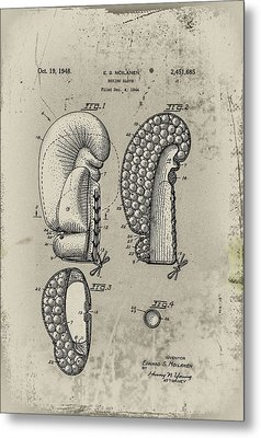 1948 Boxing Glove Patent Metal Print by Digital Reproductions