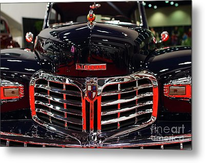1948 Lincoln Continental Coupe . Deep Blue . 7d9255 Metal Print by Wingsdomain Art and Photography