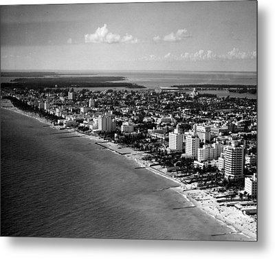 1948 Miami Beach Florida Metal Print by Retro Images Archive