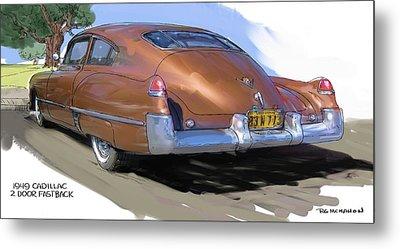 1949 Cadillac Fastback Metal Print by RG McMahon
