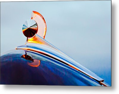 1949 Ford Hood Ornament 2 Metal Print by Jill Reger