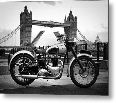 1949 Triumph T100 Metal Print by Mark Rogan