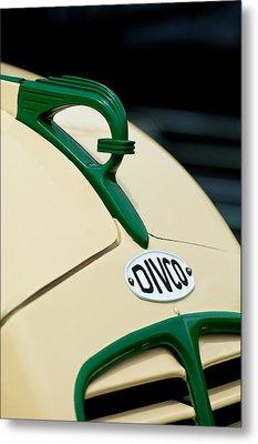 1950 Divco Milk Truck Hood Ornament Metal Print by Jill Reger