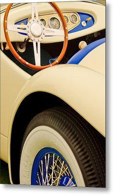 1950 Eddie Rochester Anderson Emil Diedt Roadster Steering Wheel Metal Print by Jill Reger