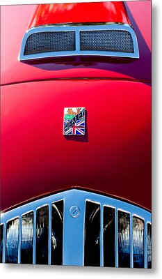 1950 Healey Silverston Sports Roadster Emblem Metal Print by Jill Reger