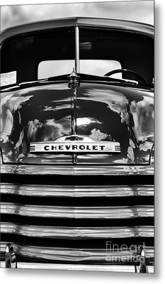 1951 Chevrolet Pickup Monochrome Metal Print by Tim Gainey