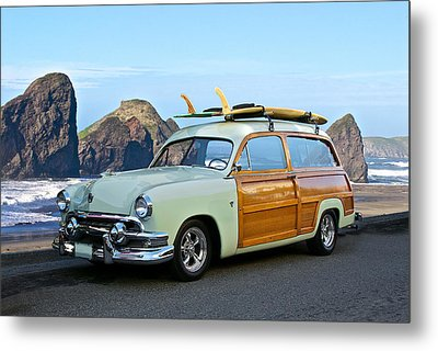 1951 Ford 'woody' Wagon Metal Print by Dave Koontz