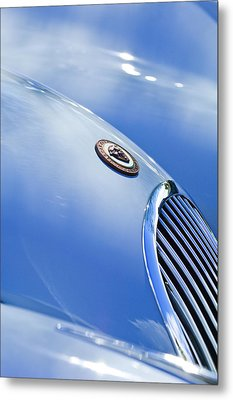 1951 Jaguar Grille Emblem Metal Print by Jill Reger