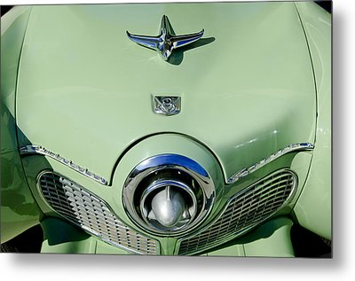 1951 Studebaker Commander Hood Ornament 2 Metal Print by Jill Reger