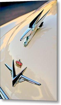 1953 Chrysler Imperial Custom Hood Ornament Metal Print by Jill Reger