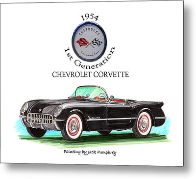 1954 Corvette First Generation Metal Print by Jack Pumphrey
