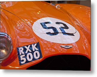 1955 Aston Martin Db3s Sports Racing Car Hood 2 Metal Print by Jill Reger