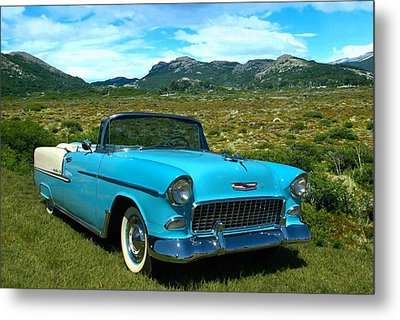 1955 Chevrolet Convertible Metal Print by Tim McCullough
