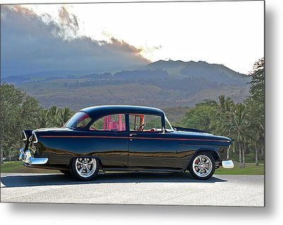 1955 Chevrolet Custom Coupe Metal Print by Dave Koontz