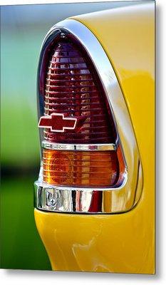 1955 Chevrolet Taillight Emblem Metal Print by Jill Reger
