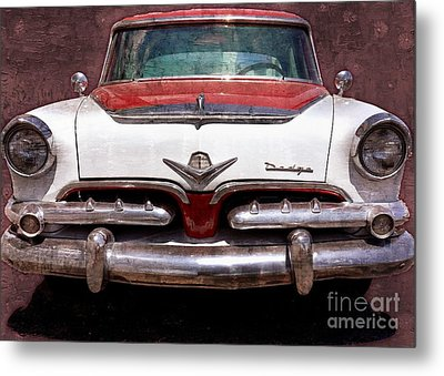 1955 Dodge In Oil Metal Print by Steve Kelley