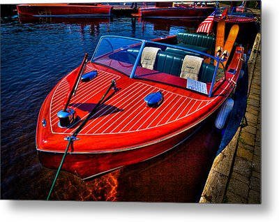 1956 Chris-craft Capri Classic Runabout Metal Print by David Patterson