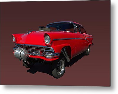 1956 Ford  Pro Street Dragster Metal Print by Tim McCullough