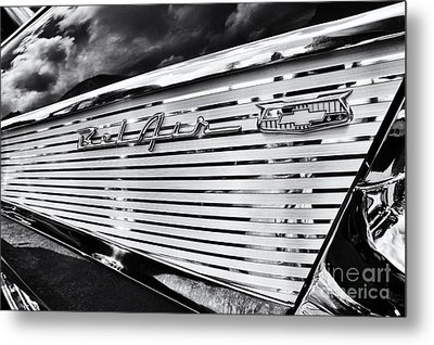 1957 Chevrolet Bel Air Monochrome Metal Print by Tim Gainey