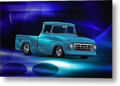 1957 Ford F100 Pick Up Metal Print by Dave Koontz