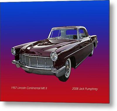 1957 Lincoln M K I I Metal Print by Jack Pumphrey