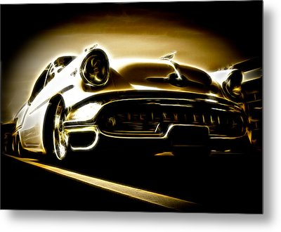 1957 Oldsmobile 88 Metal Print by Phil 'motography' Clark