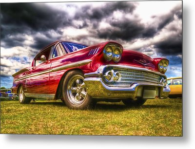 1958 Chevrolet Impala Metal Print by Phil 'motography' Clark