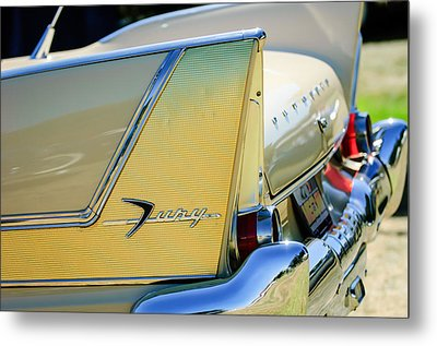1958 Plymouth Fury Golden Commando Taillight Emblem -3447c Metal Print by Jill Reger