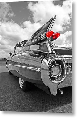 1959 Cadillac Tail Fins Metal Print by Gill Billington