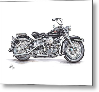 1959 Harley Davidson Panhead Metal Print by Shannon Watts
