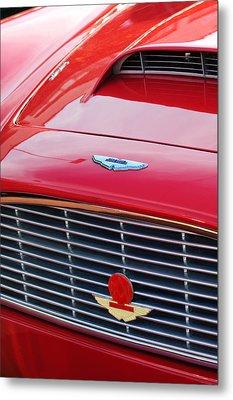 1960 Aston Martin Db4 Grille Emblem Metal Print by Jill Reger