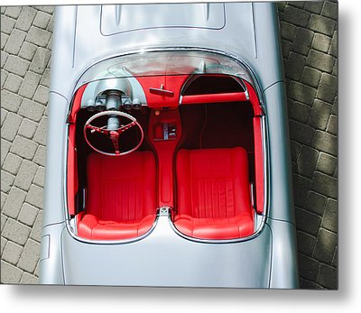 1960 Chevrolet Corvette Interior Metal Print by Jill Reger