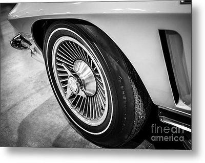 1960's Chevrolet Corvette C2 Spinner Wheel Metal Print by Paul Velgos