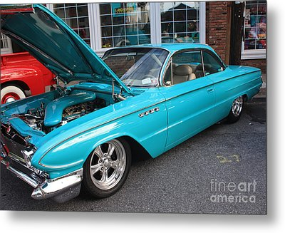 1961 Buick Two Door Sedan Front And Side View Metal Print by John Telfer