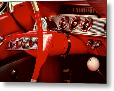 1961 Chevy Impala Ss Nomad Metal Print by David Patterson