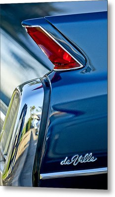 1962 Cadillac Deville Taillight Metal Print by Jill Reger