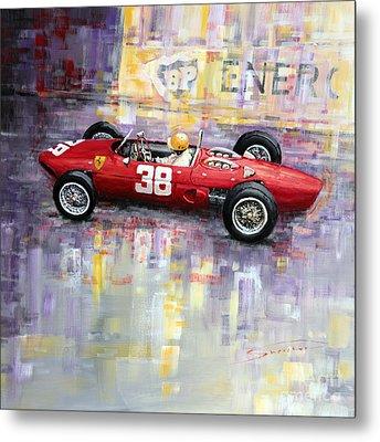 1962 Ricardo Rodriguez Ferrari 156 Metal Print by Yuriy Shevchuk