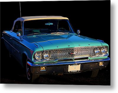 1963 Ford Galaxy Metal Print by Davandra Cribbie