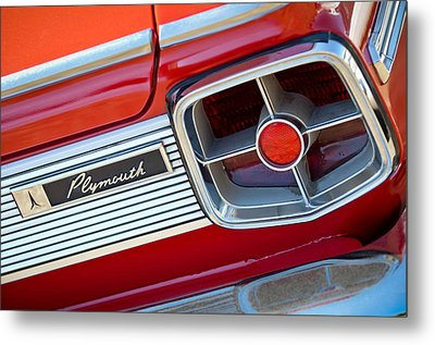 1963 Plymouth Fury Taillight Emblem -3321c Metal Print by Jill Reger