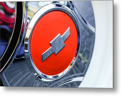 1964 Chevrolet Pickup Truck K 10 Wheel Emblem Metal Print by Jill Reger