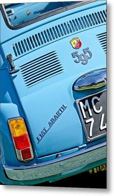 1965 Fiat Taillight Metal Print by Jill Reger