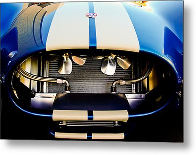 1965 Shelby Cobra Grille Metal Print by Jill Reger