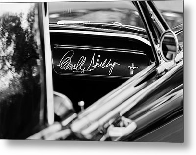 1965 Shelby Prototype Ford Mustang Carroll Shelby Signature Metal Print by Jill Reger