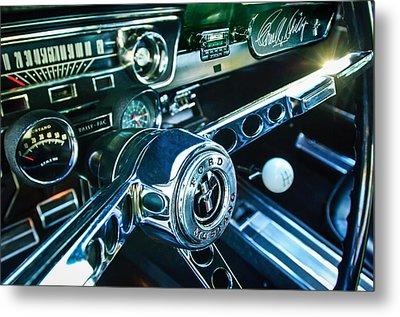 1965 Shelby Prototype Ford Mustang Steering Wheel Emblem 2 Metal Print by Jill Reger